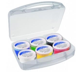 Prstové barvy Primo v kelímku 6 x 100 g + štětec