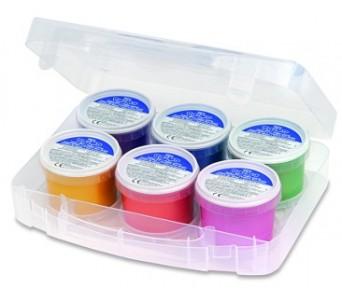 Prstové perleťové barvy Primo v kelímku 6 x 100 g