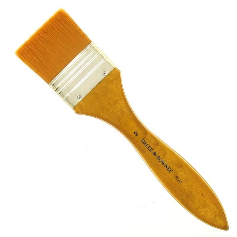 Štětec plochý extra široký Daler Rowney vel.2, syntetický