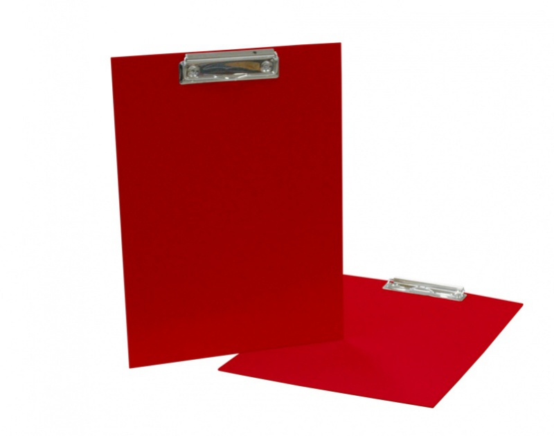 Podložka A4 s klipem - lamino červená: red