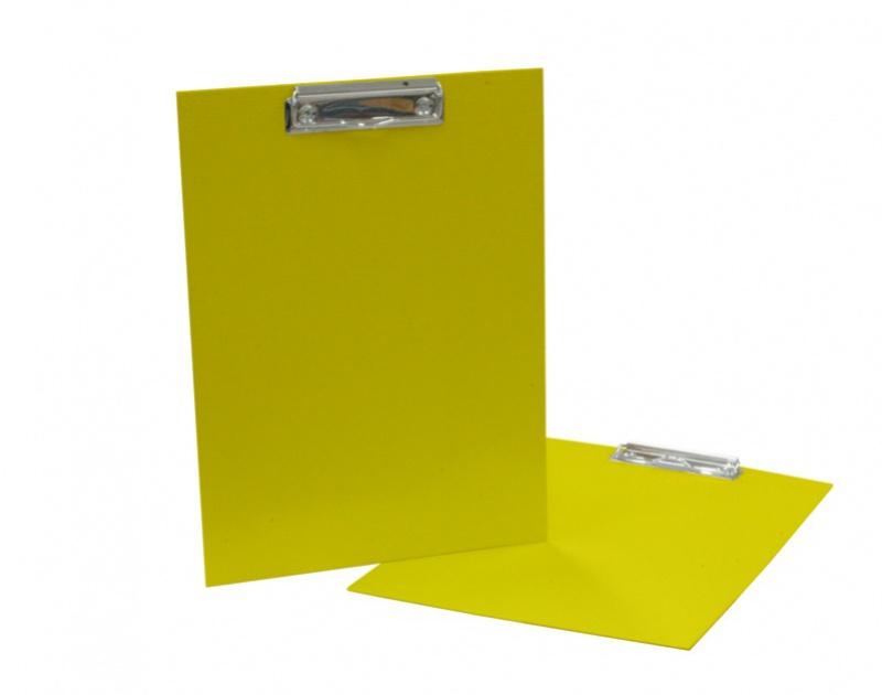 Podložka A4 s klipem - lamino žlutá: yellow