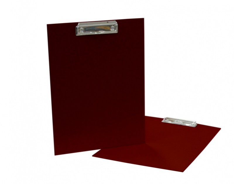 Podložka A4 s klipem - lamino červená tmavá: burgundy