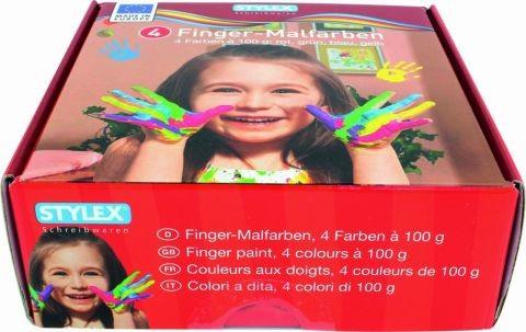 Prstové barvy Stylex v kelímku 4 x 100 ml