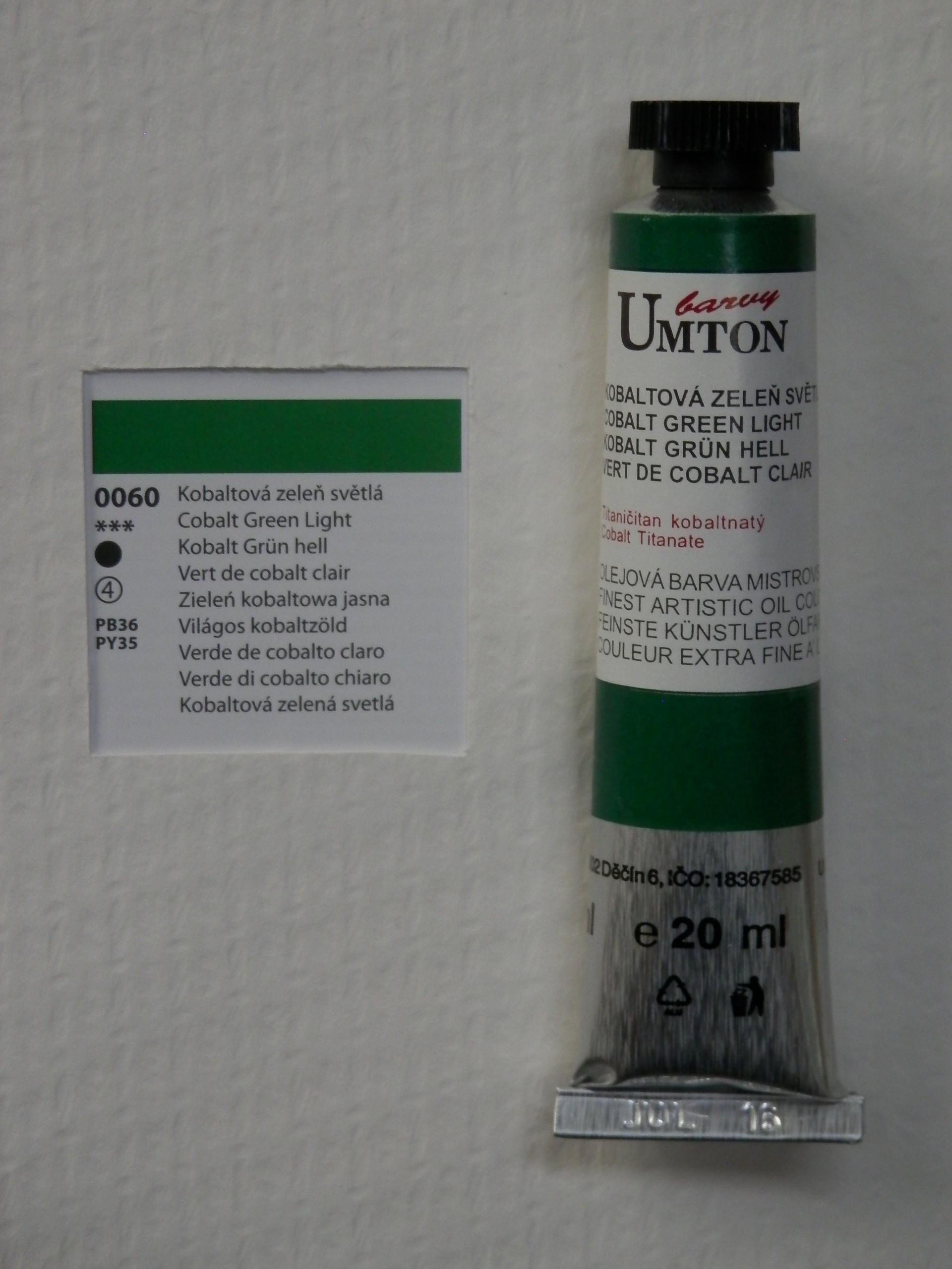 Olejová barva UMTON 20 ml - kobaltová zeleň světlá 60