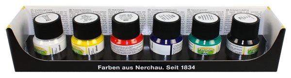 Barvy na porcelán Nerchau - 6 x 20 ml