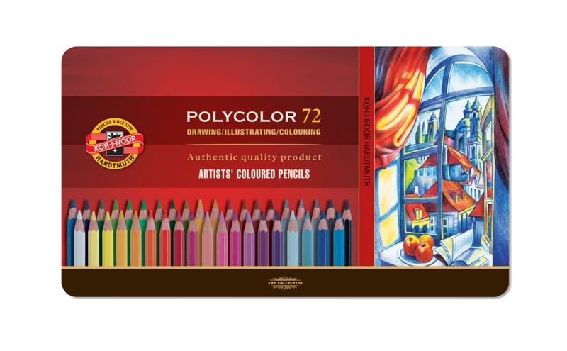 Pastelky POLYCOLOR - 72 ks