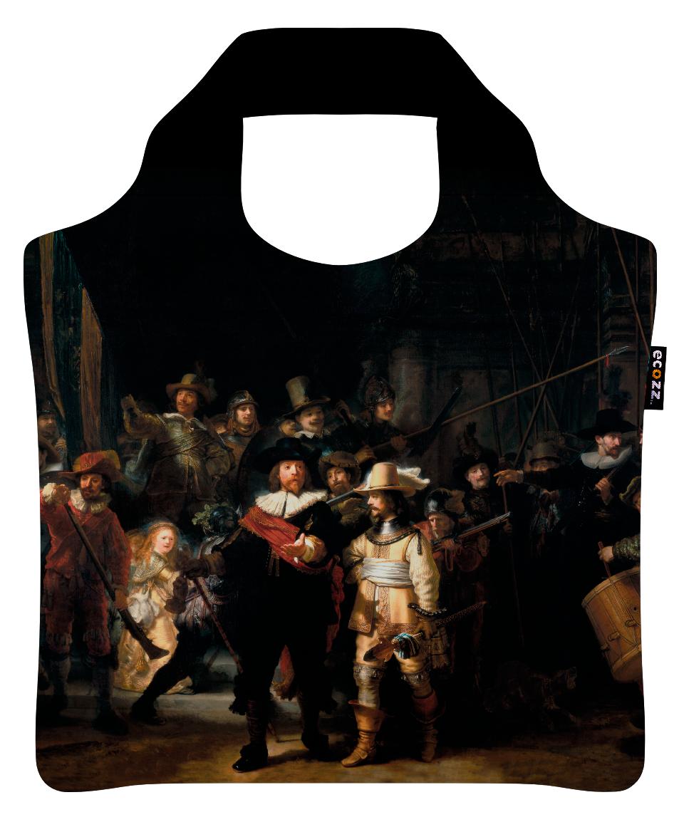 """Ekologická skládací taška ECOZZ - """"Rembrandt - Noční hlídka"""""""