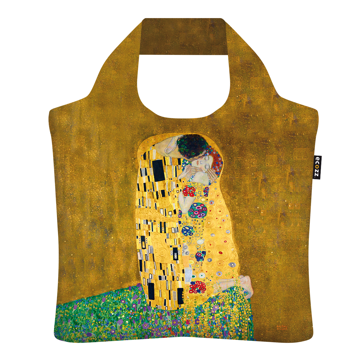 """Ekologická skládací taška ECOZZ - """"Klimt - Polibek"""""""