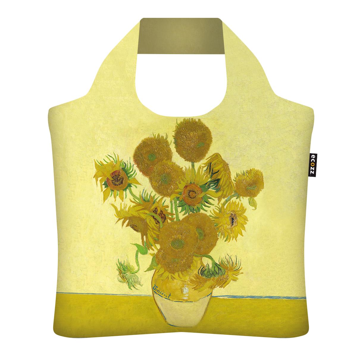 "Ekologická skládací taška ECOZZ - ""Van Gogh - Slunečnice"""