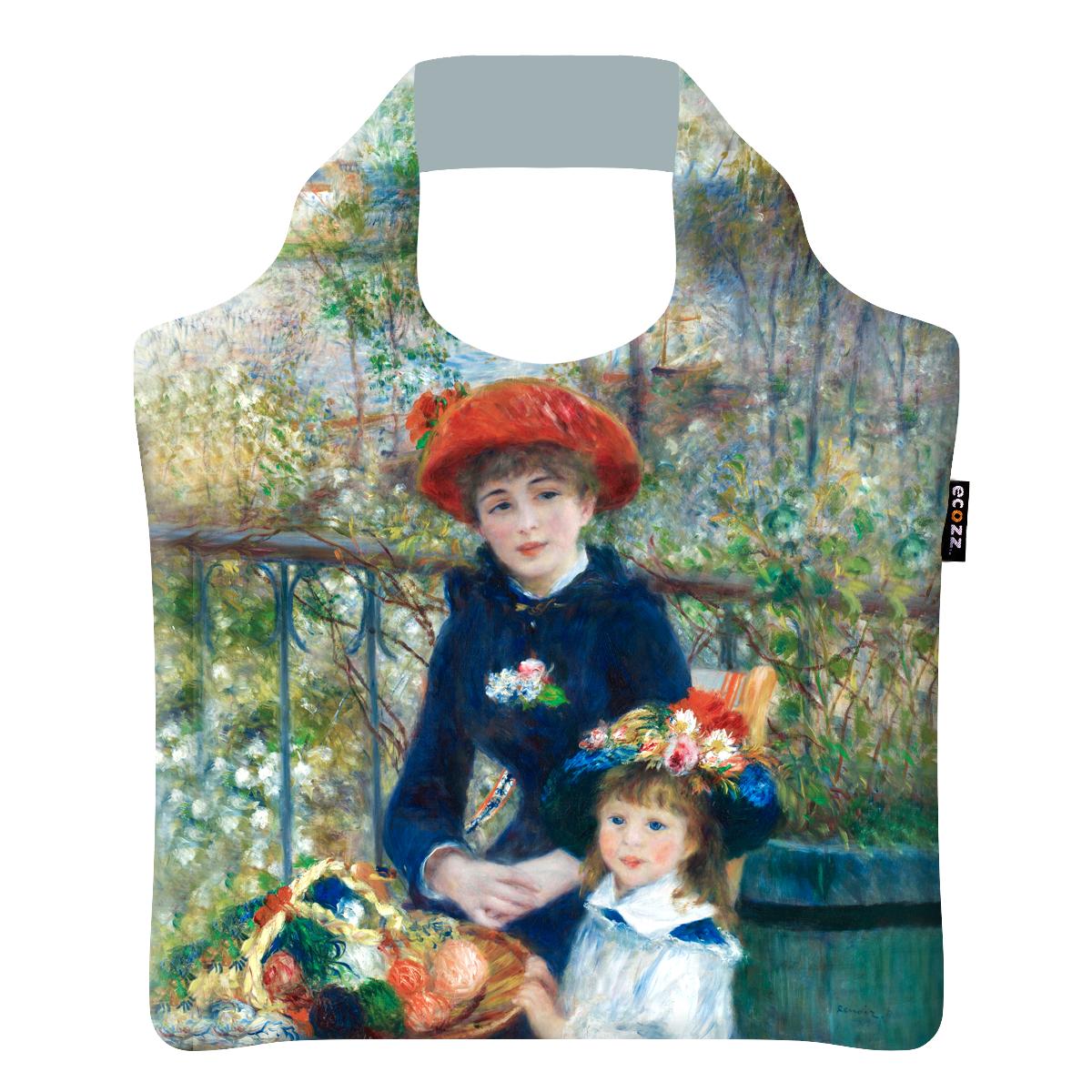 """Ekologická skládací taška ECOZZ - """"Renoir - Dvě sestry"""""""