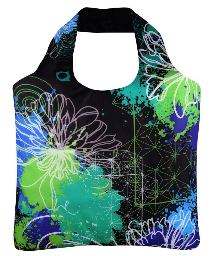 "Ekologická skládací taška ECOZZ - design ""Splash 3"""