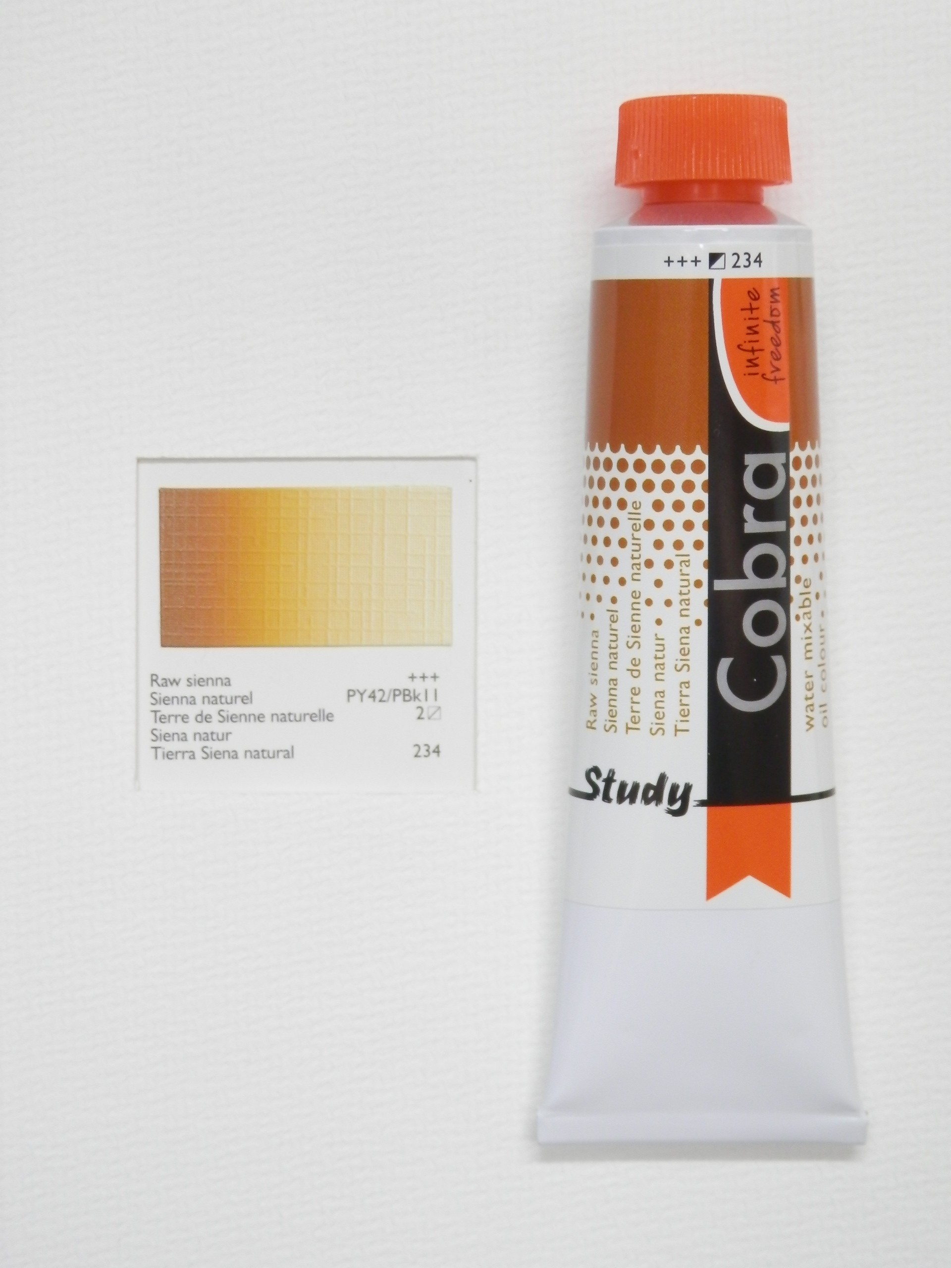 Olejová barva COBRA H2Oil 40 ml - Raw sienna 234