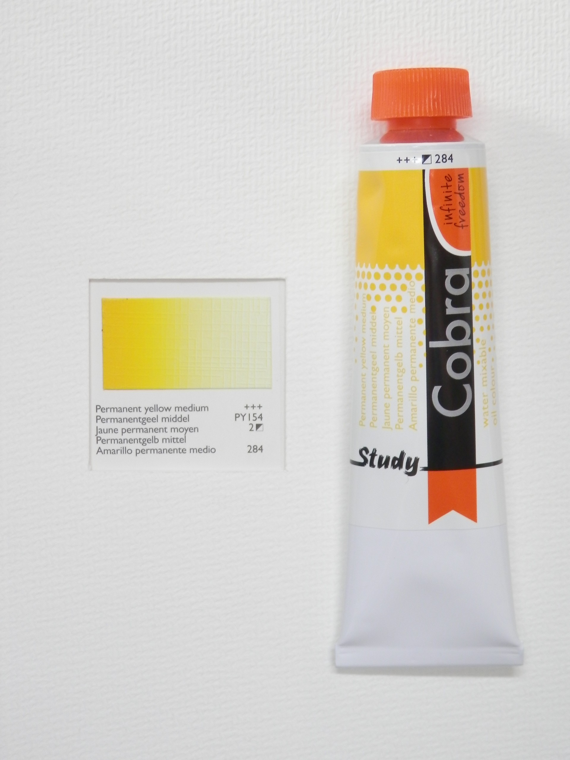 Olejová barva COBRA H2Oil 40 ml - Permanent yellow medium 284