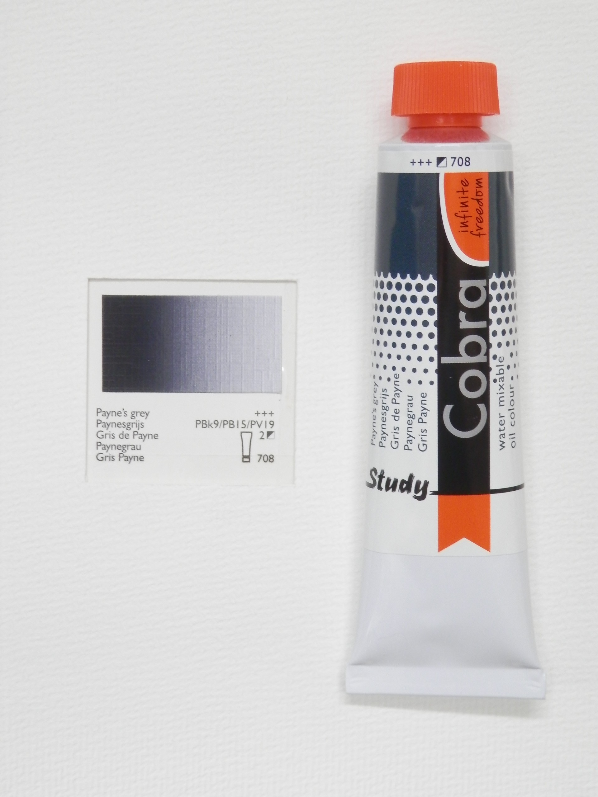 Olejová barva COBRA H2Oil 40 ml - Payne's grey 708