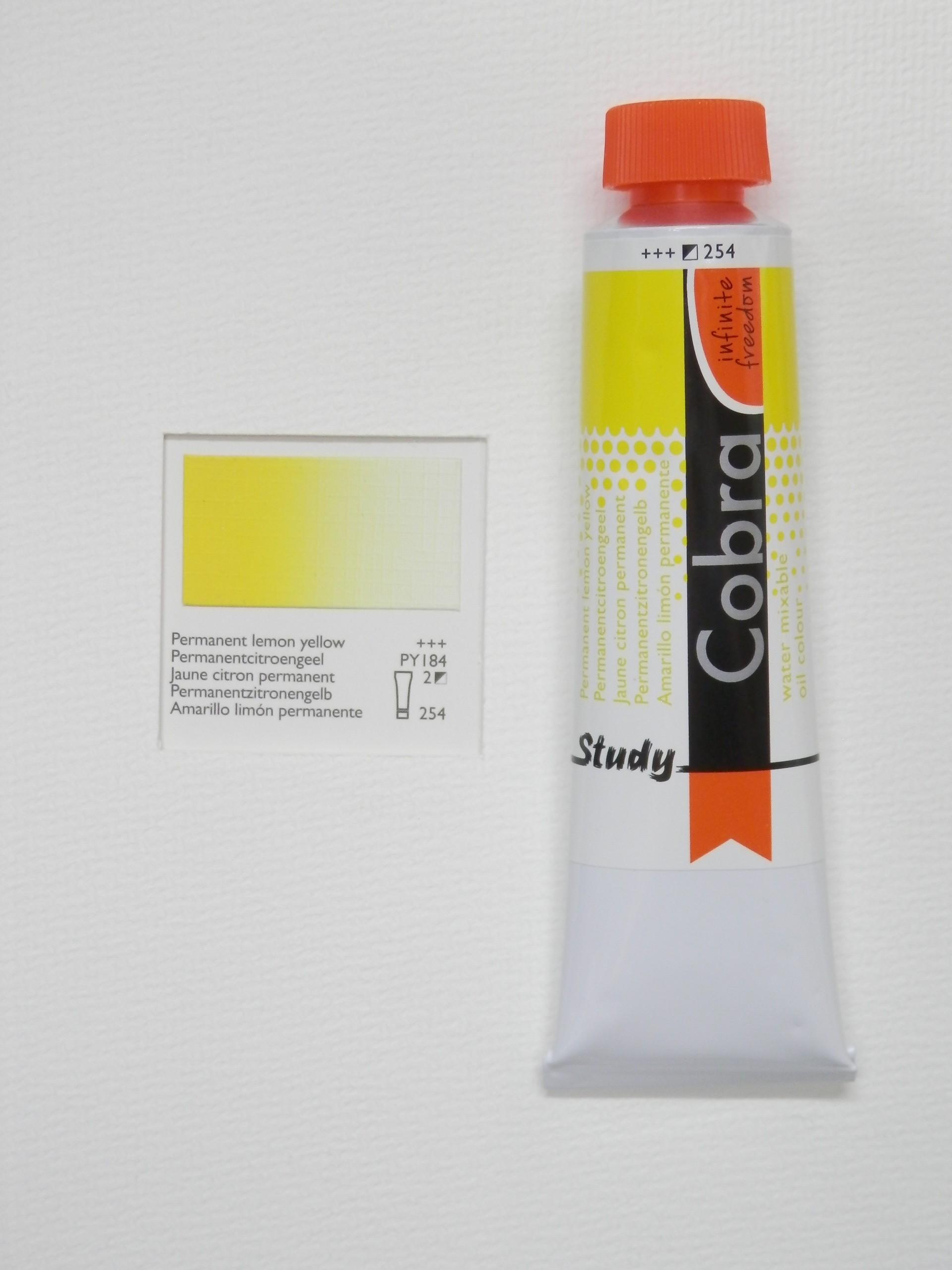 Olejová barva COBRA H2Oil 40 ml - Permanent lemon yellow 254