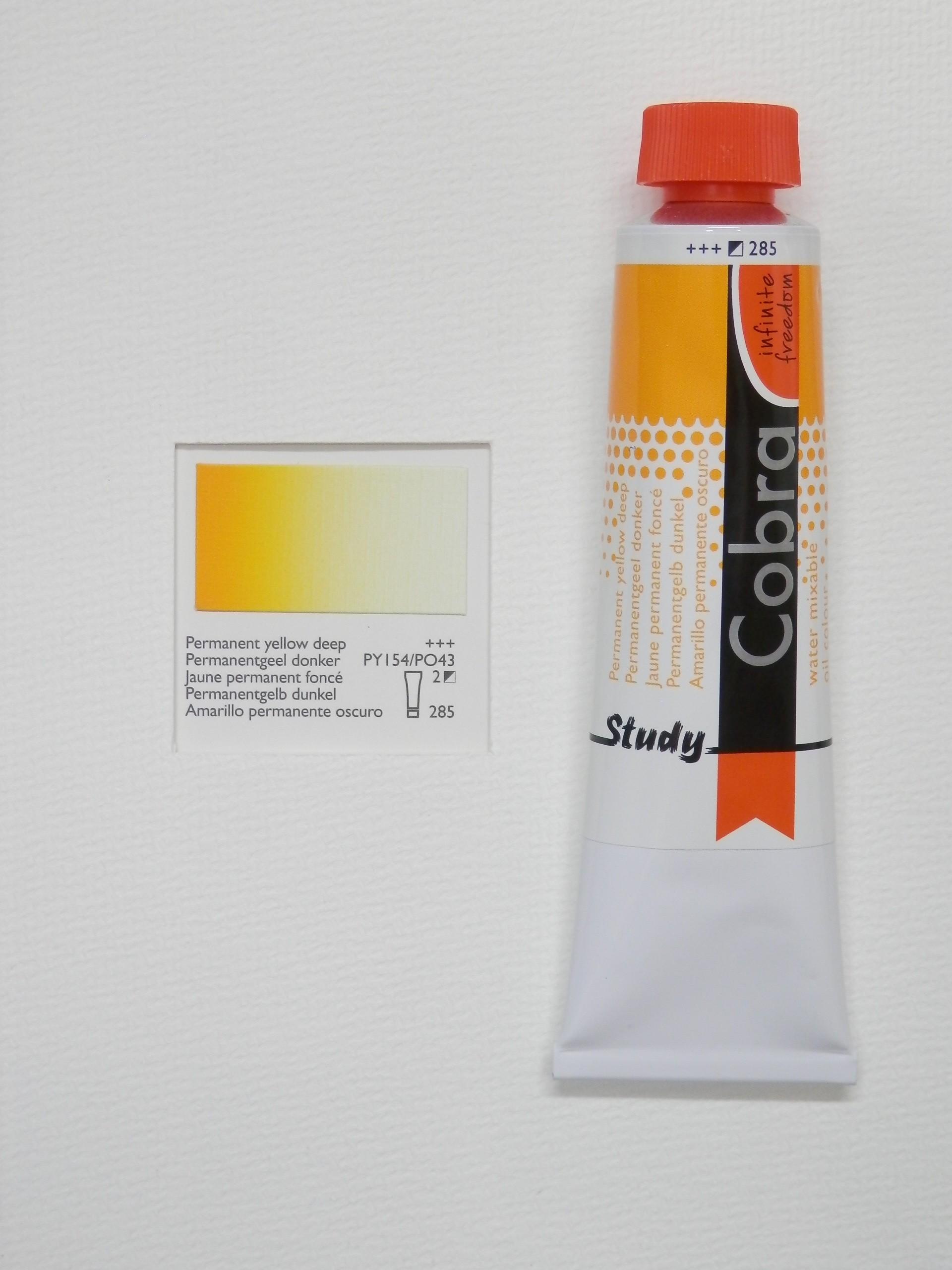 Olejová barva COBRA H2Oil 40 ml - Permanent yellow deep 285
