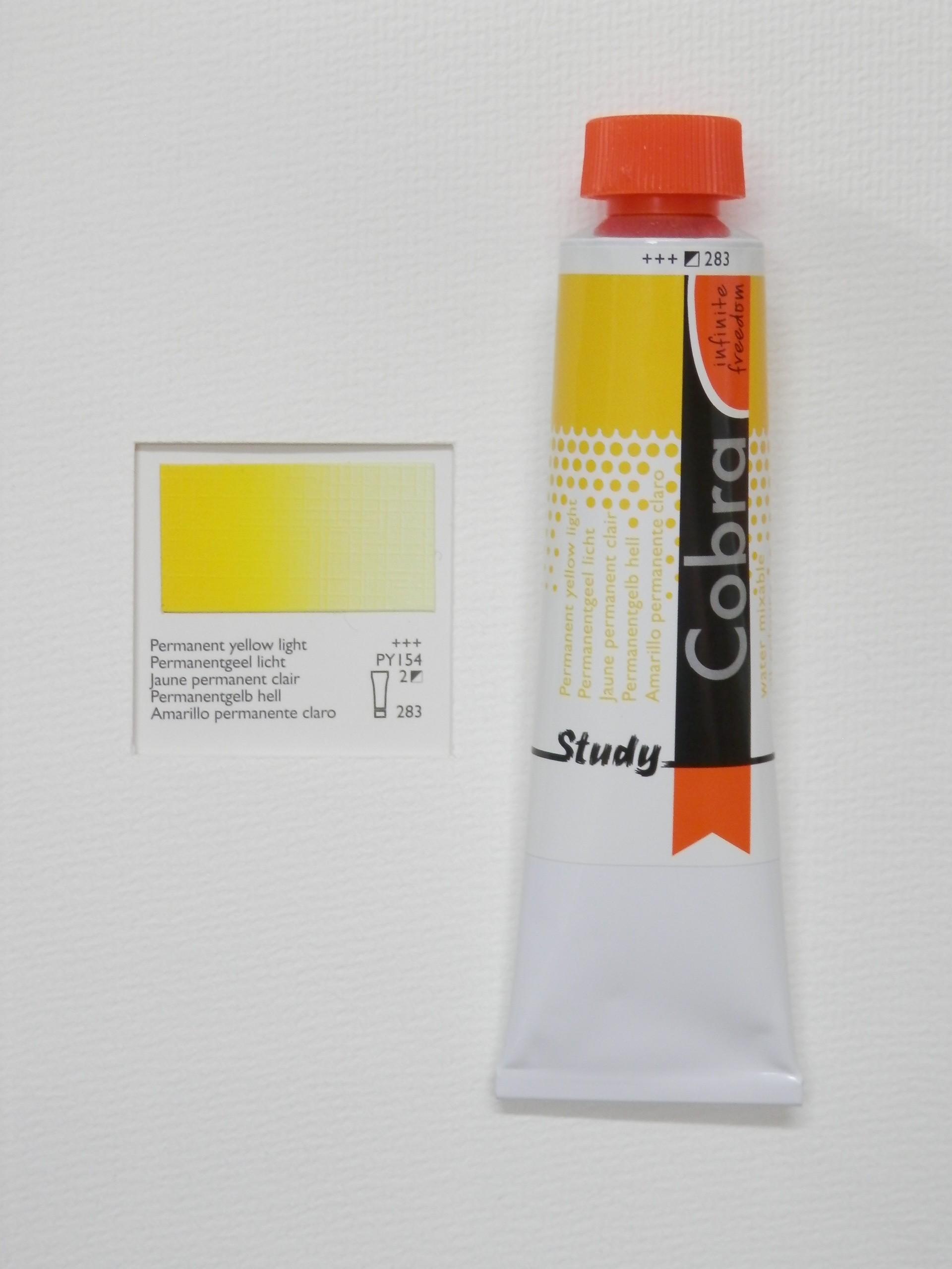 Olejová barva COBRA H2Oil 40 ml - Permanent yellow light 283
