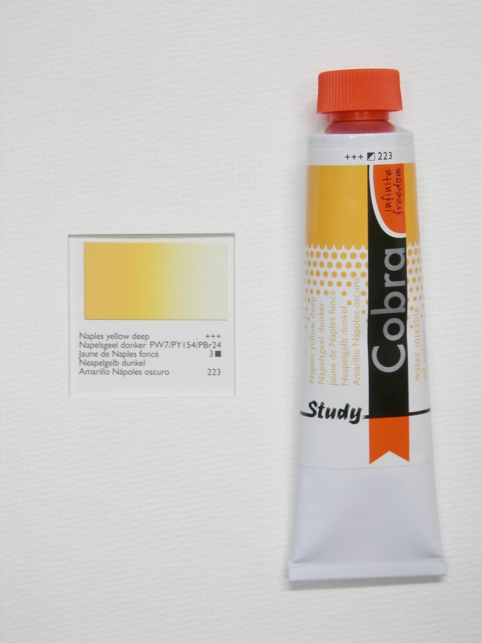 Olejová barva COBRA H2Oil 40 ml - Naples yellow deep 223