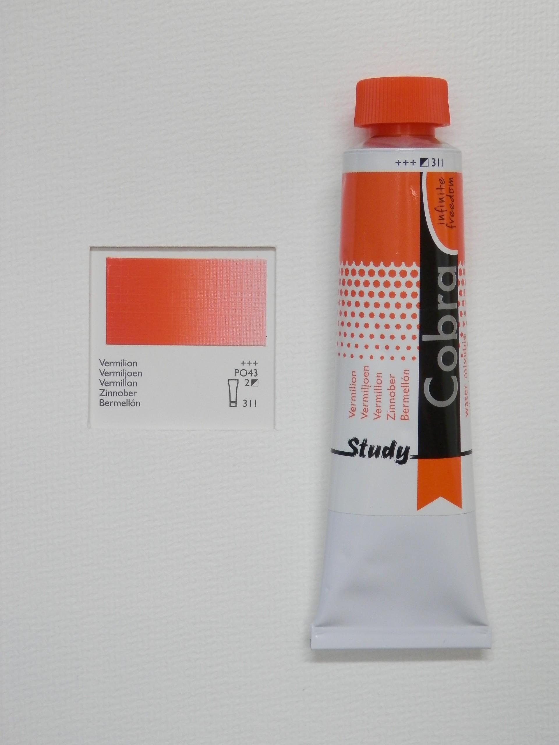 Olejová barva COBRA H2Oil 40 ml - Vermilion 311