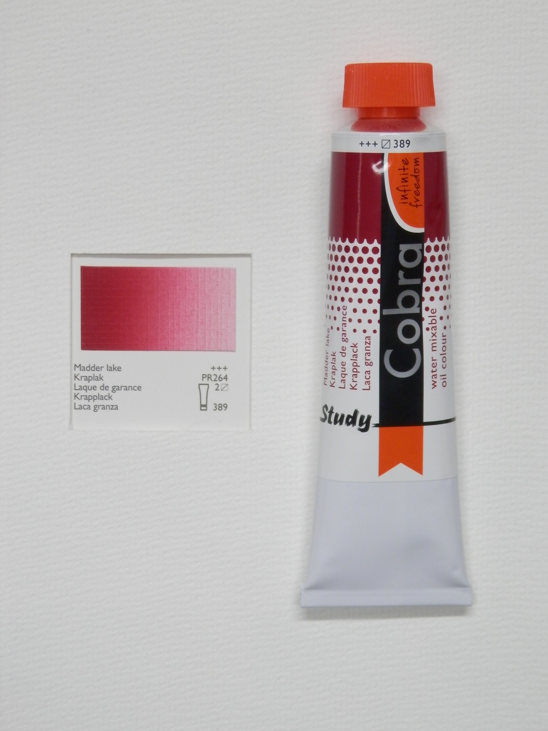 Olejová barva COBRA H2Oil 40 ml - Madder lake 389
