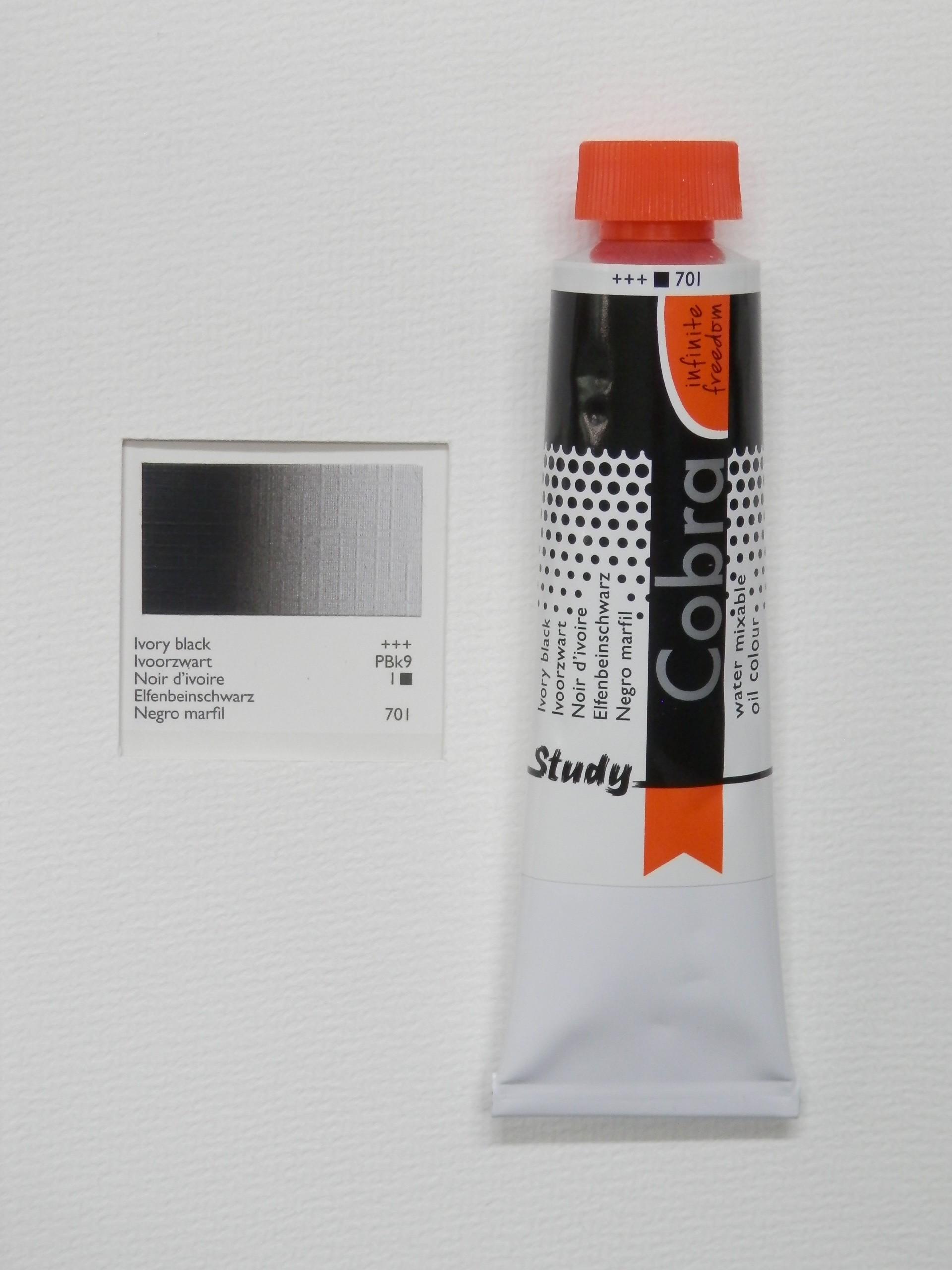 Olejová barva COBRA H2Oil 40 ml - Ivory black 701