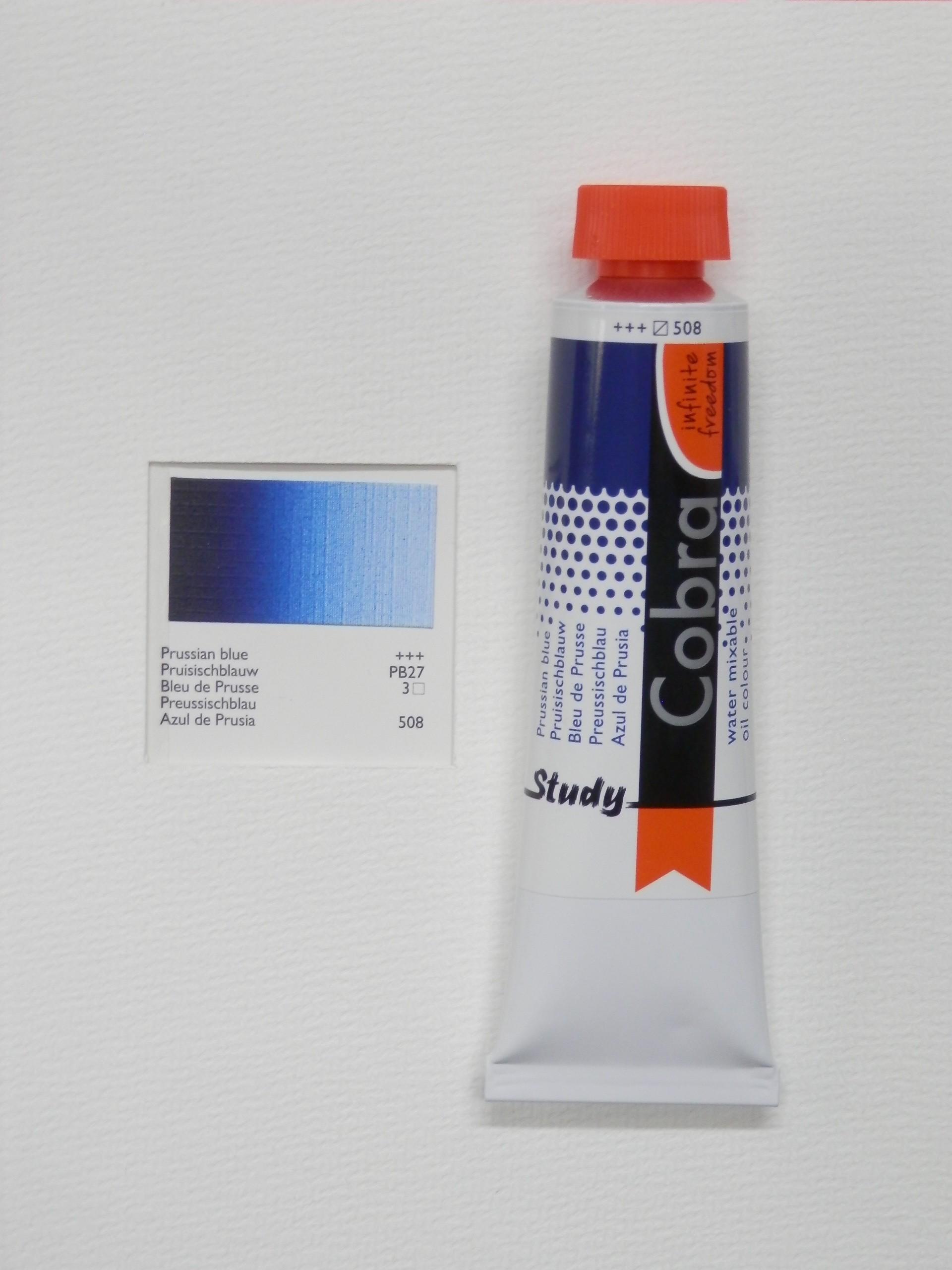 Olejová barva COBRA H2Oil 40 ml - Prussian blue 508
