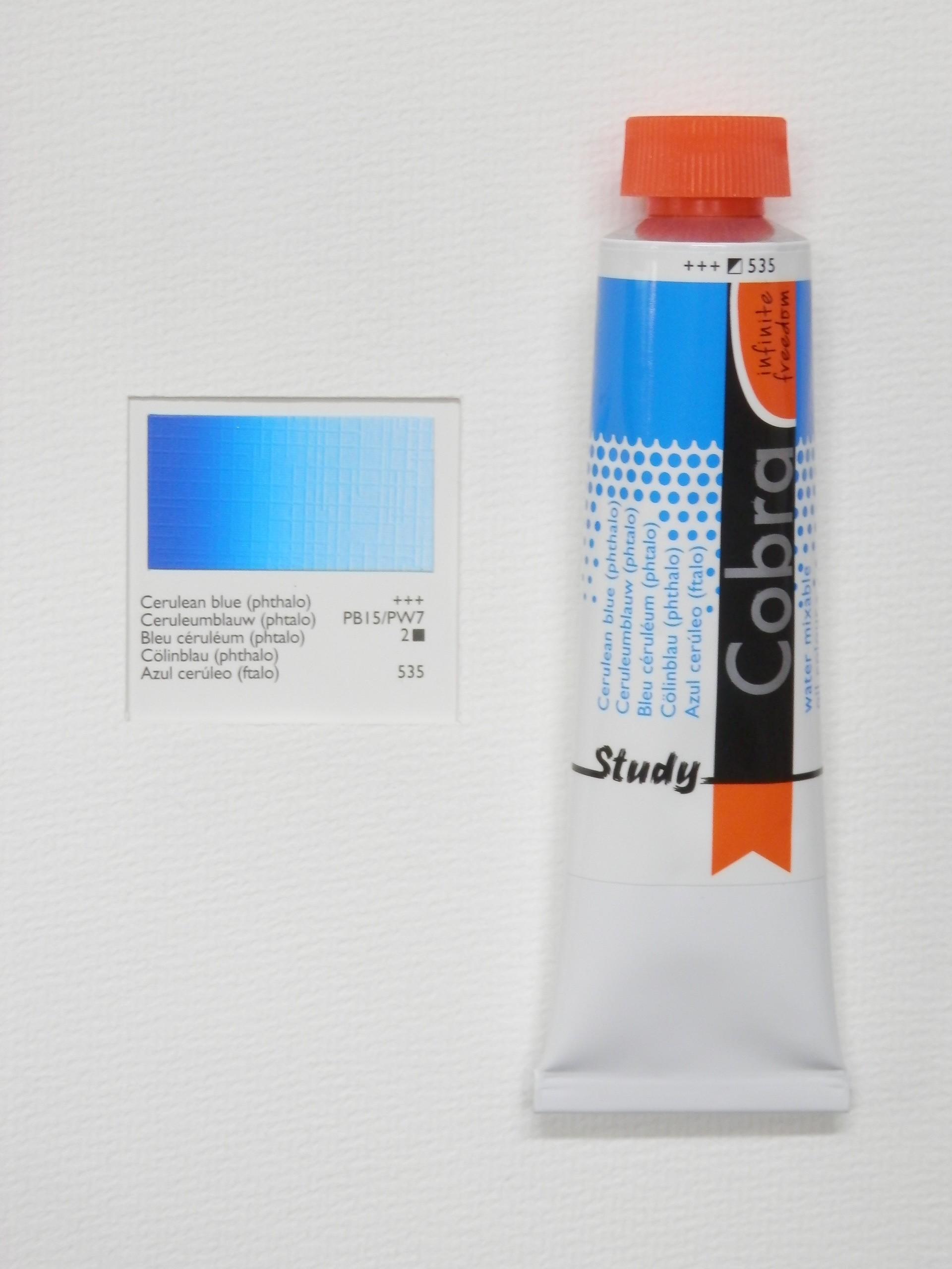 Olejová barva COBRA H2Oil 40 ml - Cerulean blue 535