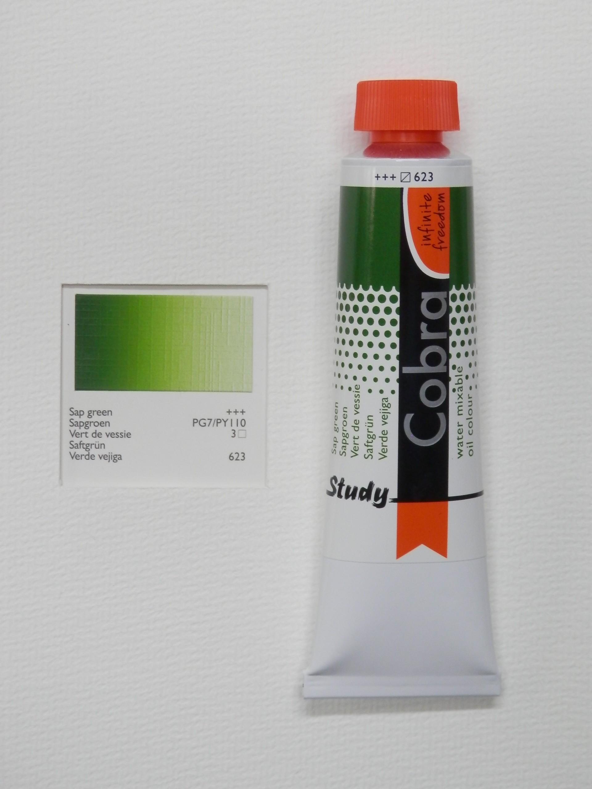 Olejová barva COBRA H2Oil 40 ml - Sap green 623
