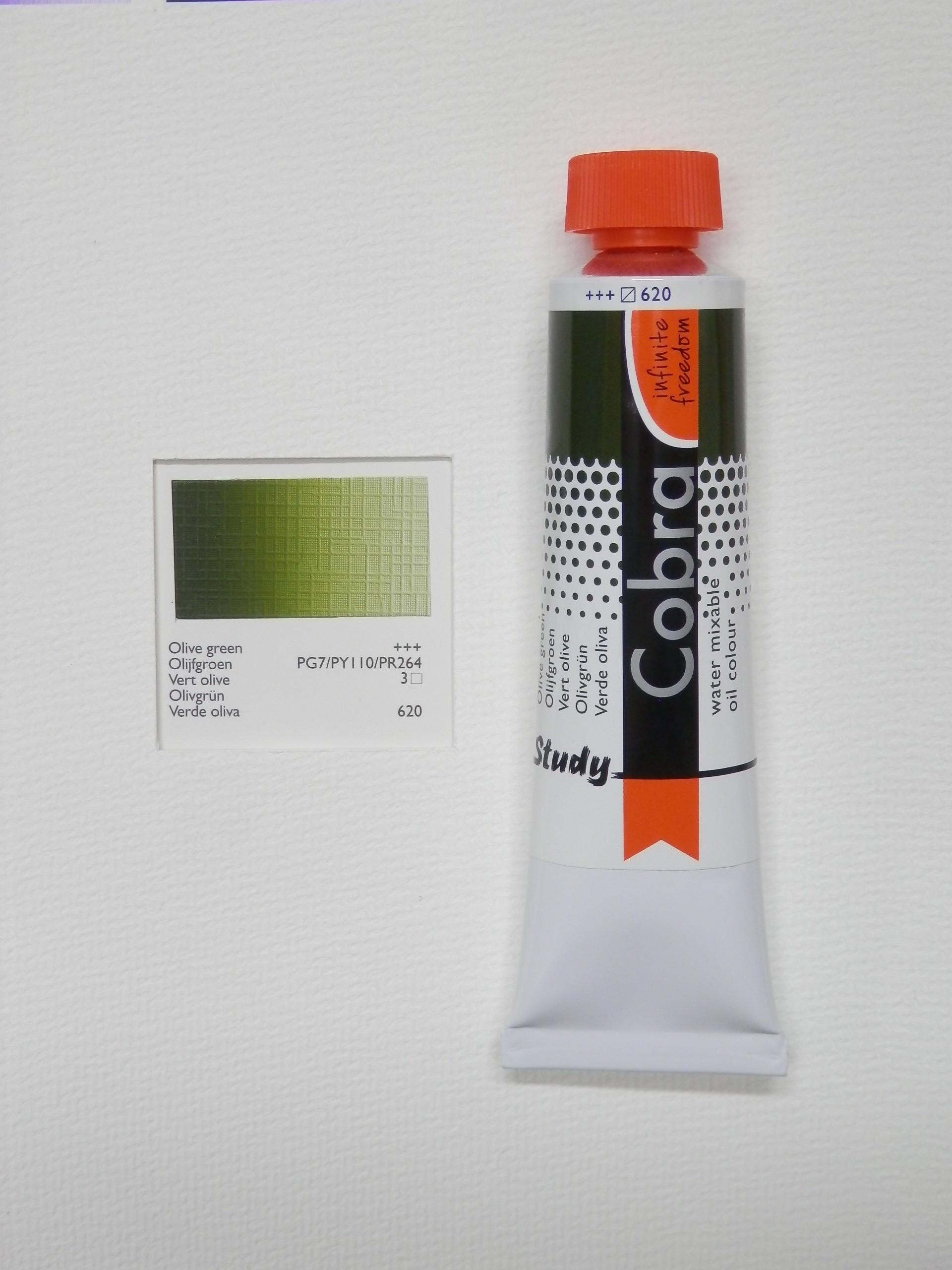 Olejová barva COBRA H2Oil 40 ml - Olive green 620