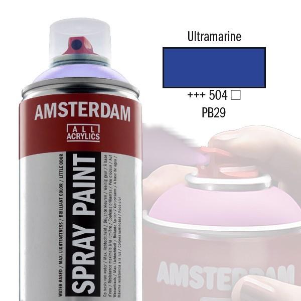 AMSTERDAM Spray Paint - Akrylová barva ve spreji 400 ml - Ultramarine 504
