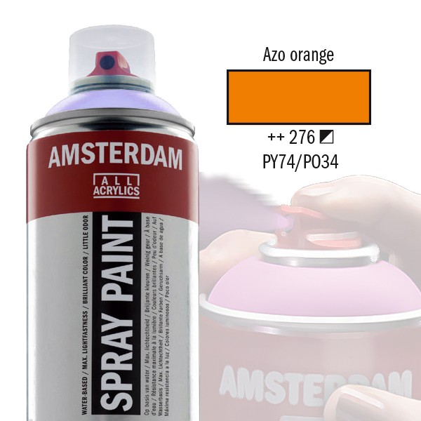 AMSTERDAM Spray Paint - Akrylová barva ve spreji 400 ml - Azo orange 276