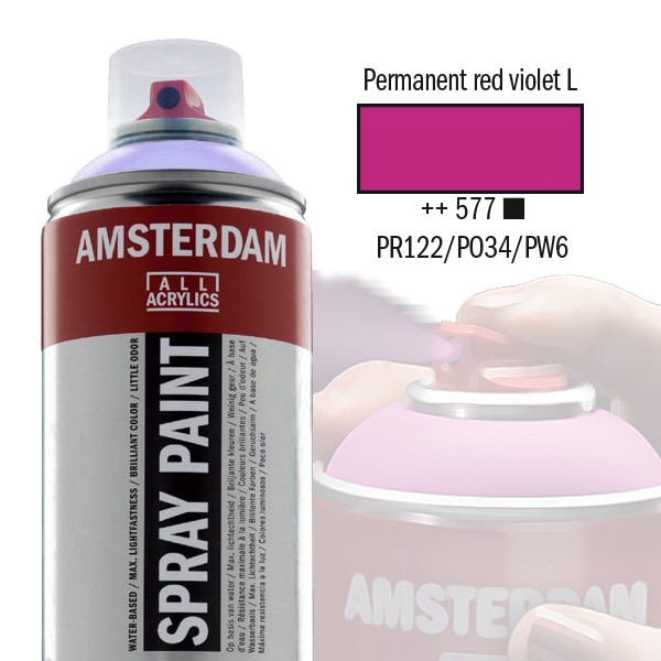 AMSTERDAM Spray Paint - Akrylová barva ve spreji 400 ml - Permanent red violet light 577