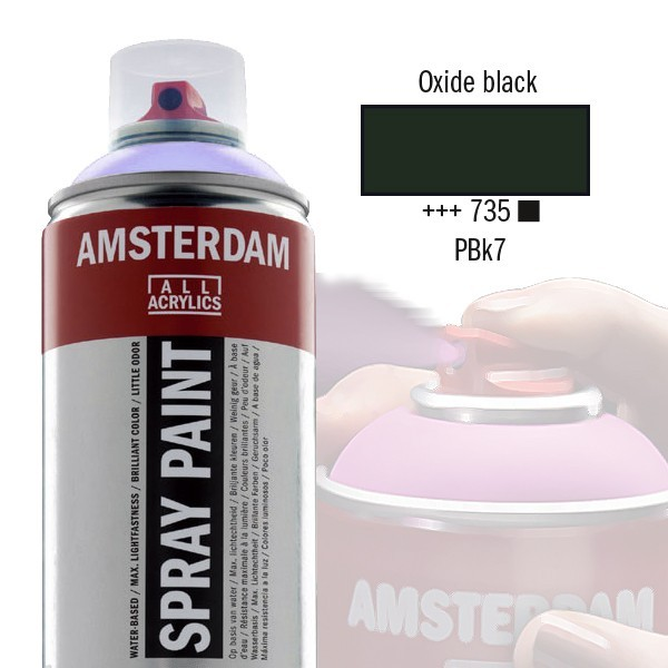 AMSTERDAM Spray Paint - Akrylová barva ve spreji 400 ml - Oxide black 735