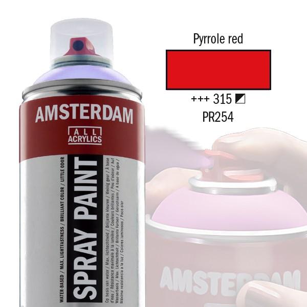 AMSTERDAM Spray Paint - Akrylová barva ve spreji 400 ml - Pyrrole red 315