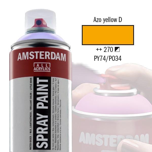 AMSTERDAM Spray Paint - Akrylová barva ve spreji 400 ml - Azo yellow deep 270