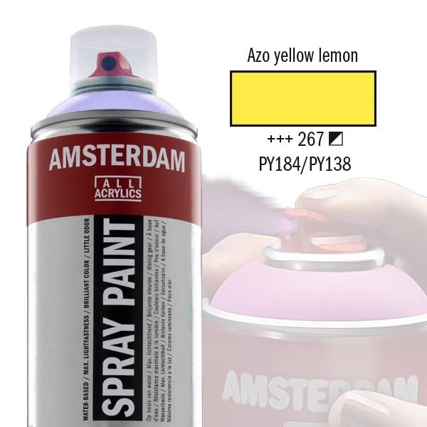AMSTERDAM Spray Paint - Akrylová barva ve spreji 400 ml - Azo yellow lemon 267