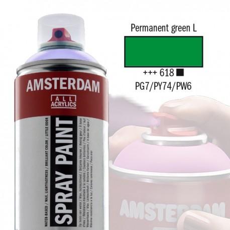 AMSTERDAM Spray Paint - Akrylová barva ve spreji 400 ml - Permanent green light 618