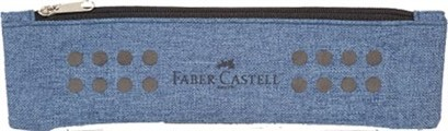Plátěné pouzdro Faber Castell s gumičkou - modré