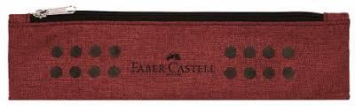 Plátěné pouzdro Faber Castell s gumičkou - červené