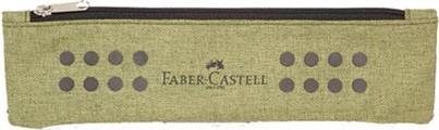 Plátěné pouzdro Faber Castell s gumičkou - zelené
