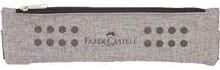 Plátěné pouzdro Faber Castell s gumičkou - šedé