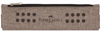 Plátěné pouzdro Faber Castell s gumičkou - světle hnědé