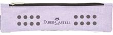 Plátěné pouzdro Faber Castell s gumičkou - fialové