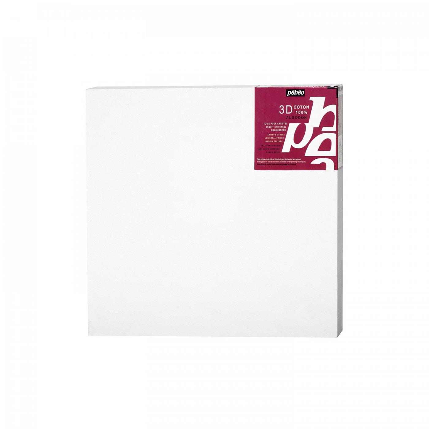 Malířské plátno PÉBÉO 3D bílé - 50x50 cm