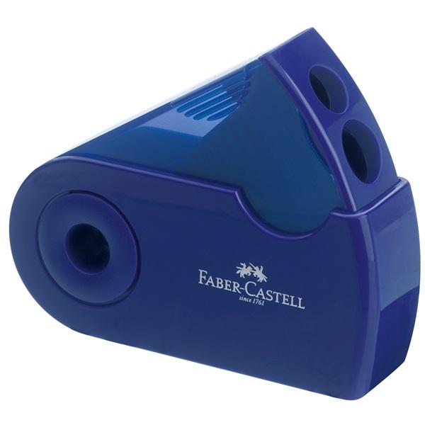 Ořezávátko dvojité kapesní Faber-Castell - modré