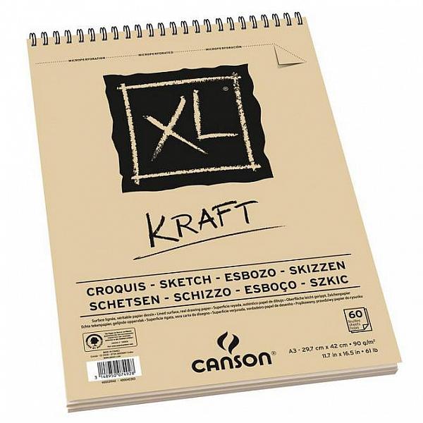 Blok XL KRAFT Canson 90g/m² - A3