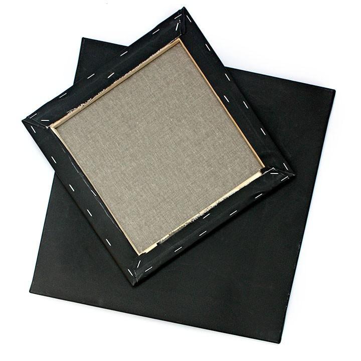 Malířské plátno PÉBÉO 3D černé - 50x50 cm