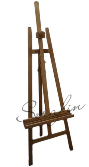 Velký dřevěný stojan - smrk mořený světlý