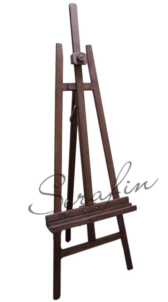 Velký dřevěný stojan - smrk mořený tmavý