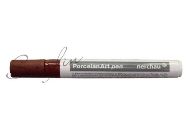 Fixa na porcelán NERCHAU PORCELAN ART - hnědá